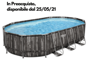 56475 2 - Piscina Fuori Terra Bestway 5611R Power Steel Ovale 610 X 366 X 122