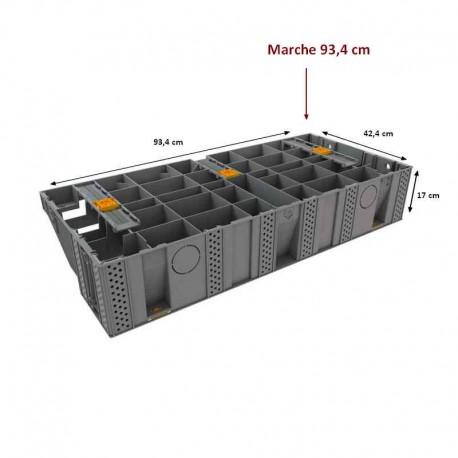 escalier modulable modulesca de jouplast marche 93 4x42 4x17cm bricobois fr accessoires bois pas cher vis inox support poteau pied reglable