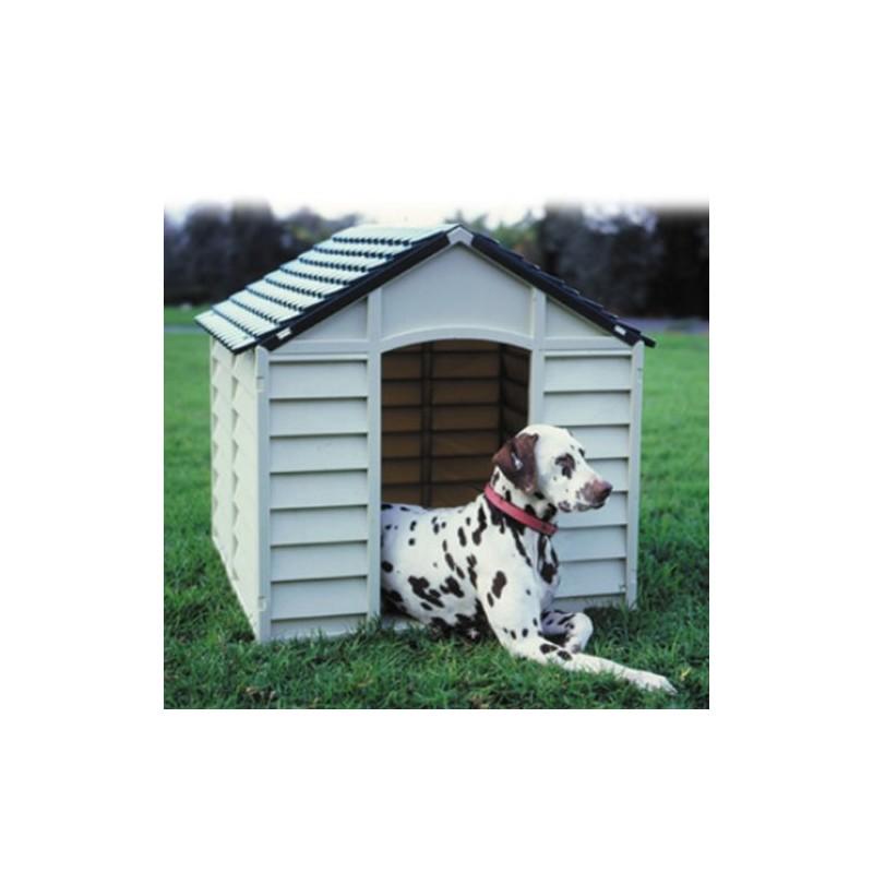 Cuccia per cani in resina per esterno grigio e verde 78x84x80h  Brico Casa