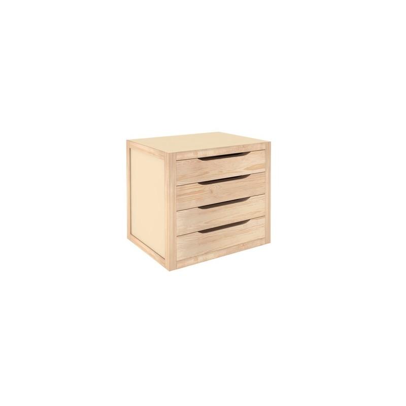 Cassettiera da banco in legno naturale grezzo  Brico Casa