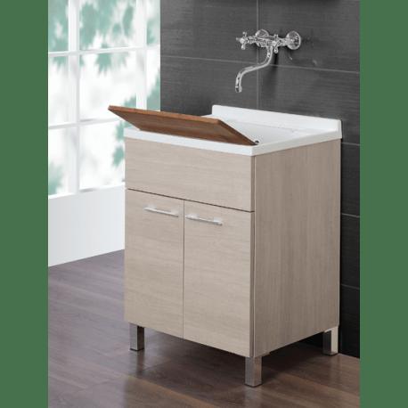 Lavatoio lavanderia 60 cm legno bianco  Feridras  Brico Casa