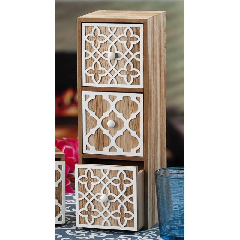 Portaoggetti con cassetti da scrivania in legno decorazioni  Brico Casa