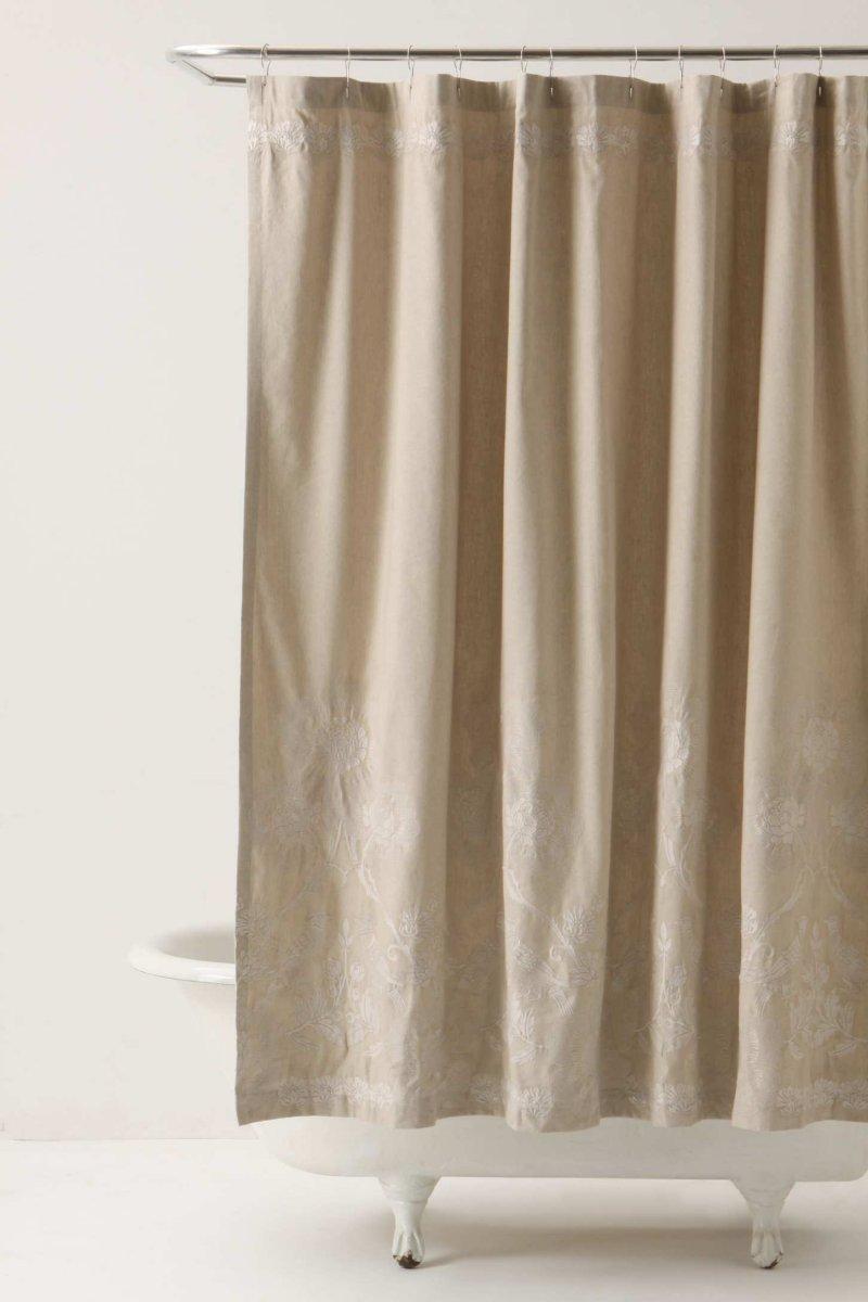 Cortinas de ducha para un cuarto de bao romntico