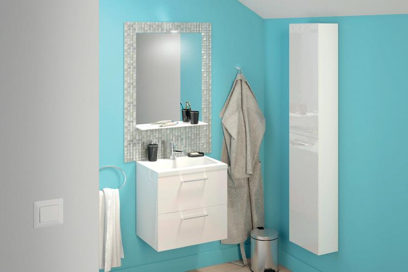 meuble salle de bain canard et bleu lagon slim brico depot