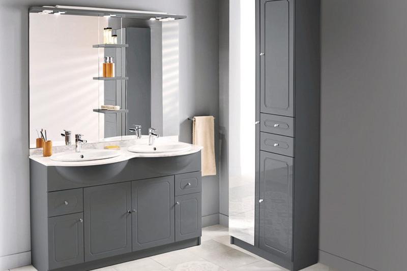 meuble salle de bain blanc et bois mat majorca brico depot