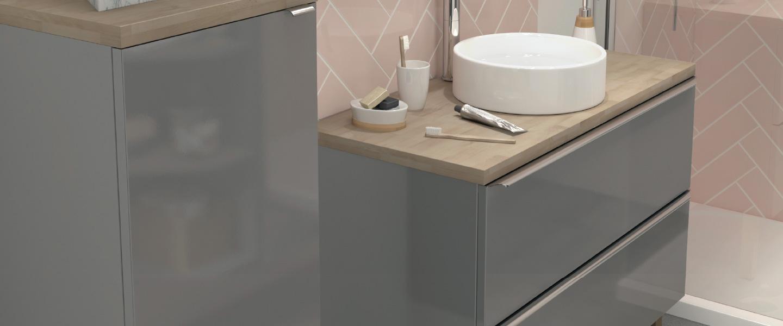 Ensemble Imandra L 80 Cm Plan De Toilette Vasque A Poser Nura Brico Depot