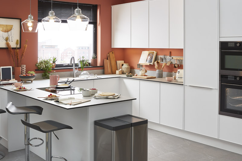modele de cuisine moderne et equipee brico depot