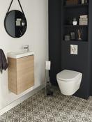 meuble salle de bain laque blanc ou