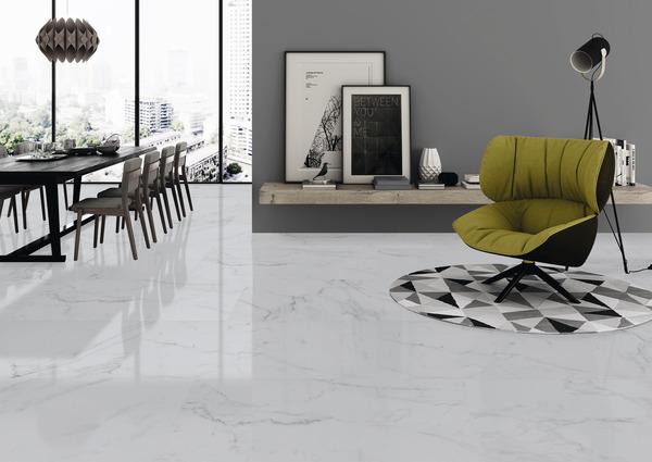 Carrelage Sol Interieur Gris Elegance Marble L 60 X L 30 Cm Brico Depot