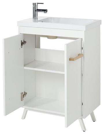 Meuble Sous Vasque A Poser Blanc L 60 Cm Ladoga Brico Depot