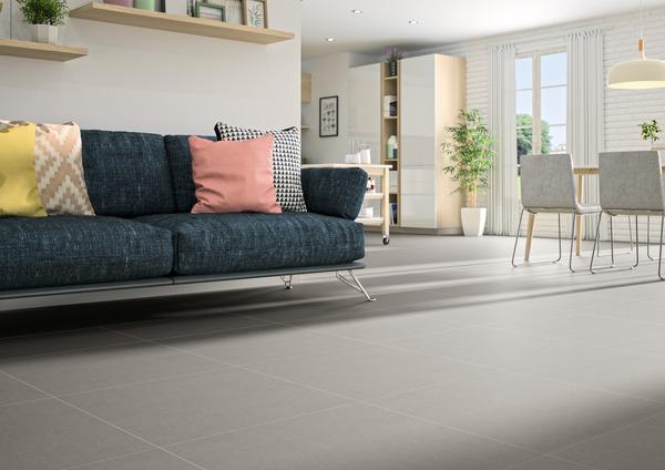 carrelage sol interieur gris clair