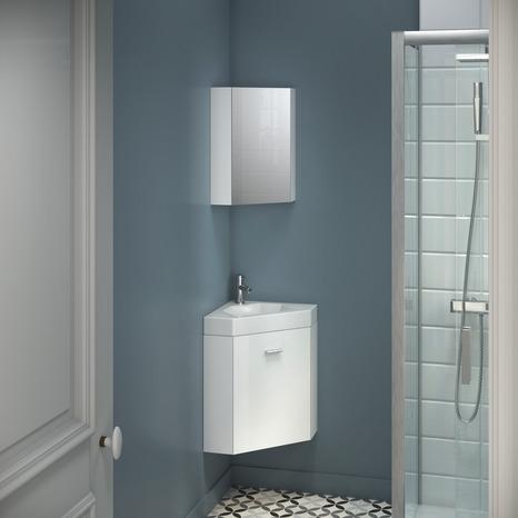 armoire miroir d angle l 30 x h 50 x p