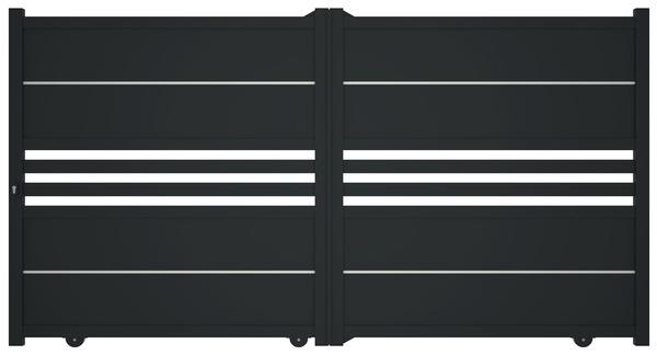 Portail Coulissant Aluminium Ribas L 3 X H 1 70 M Brico Depot