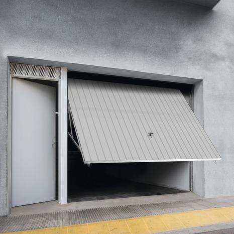 Porte De Garage Basculante Manuelle H 200 Cm L 240 Cm Blanche Brico Depot