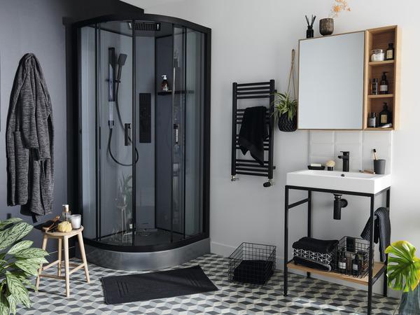 cabine de douche hydromassante beloya l 90 x l 90 x h 220 cm goodhome