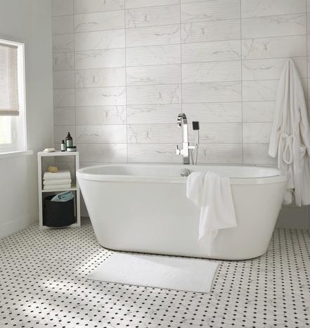 Faience Murale Aspect Marbre Blanc Elegance Marble L 60 X L 20 Cm Brico Depot