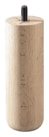 pied de lit bois rond haut 150 mm