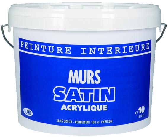 Peinture Blanche Acrylique Aspect Satine 10 L Brico Depot