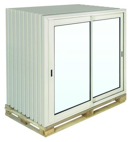 Fenetre Coulissante En Aluminium Haute Isolation Blanc L 100 X H 100 Cm Brico Depot