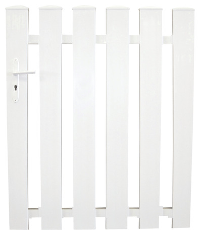 portail pvc battant blanc oleron l 3