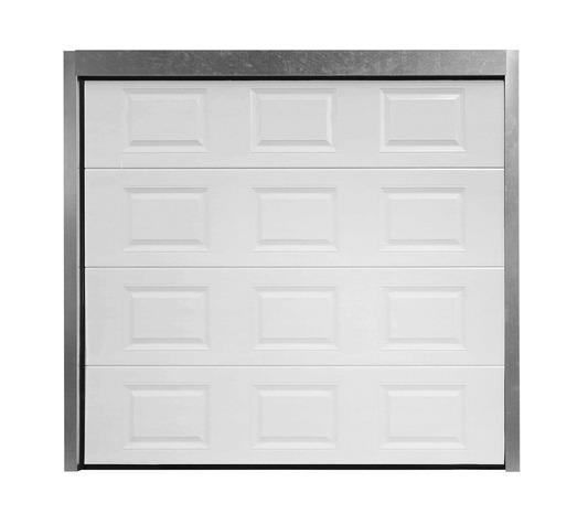 Porte De Garage Sectionnelle Motorisee En Acier H 200 Cm L 300 Cm Brico Depot