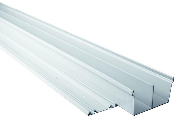 lot de 2 rails acier l 180 cm laque blanc form