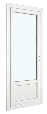Porte Fenetre Pvc Blanc 1 Vantail Tirant Droit Larg 80 X Haut 205 Cm Uw