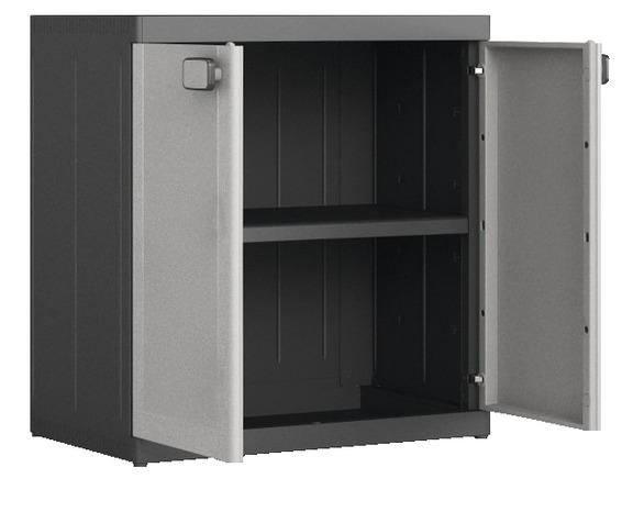 armoire basse en resine a 1 tablette charge max 50 kg concepto