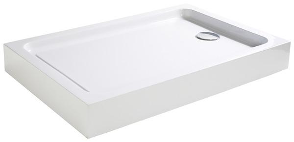 receveur de douche rectangulaire 100 x 80 cm acrylique cooke and lewis