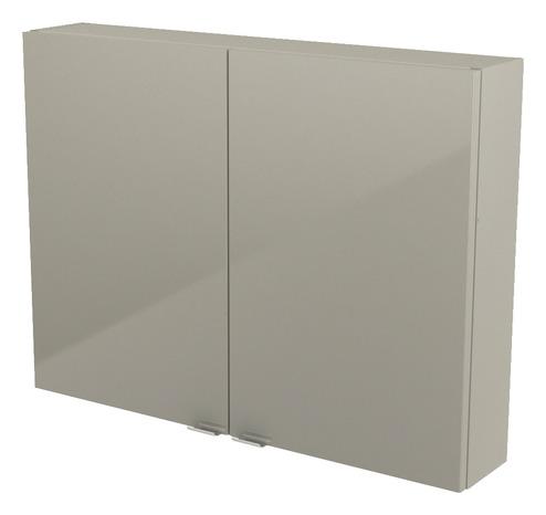 armoire de salle de bains taupe imandra l 80 x h 60 x p 15 cm goodhome
