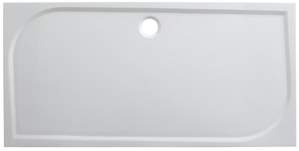 receveur de douche rectangulaire extraplat 160 x 80 cm en resine goodhome