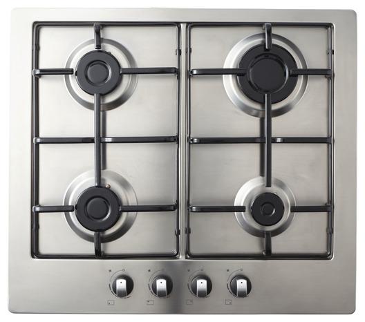 plaque de cuisson gaz inox a 4 zones