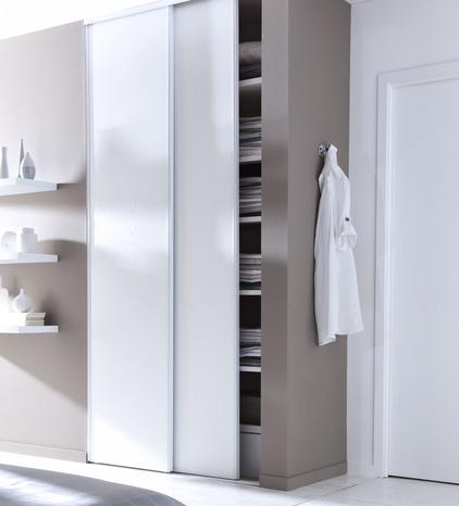 pack de 2 portes de placard coulissantes blizz h 250 x l 180 cm blanches form