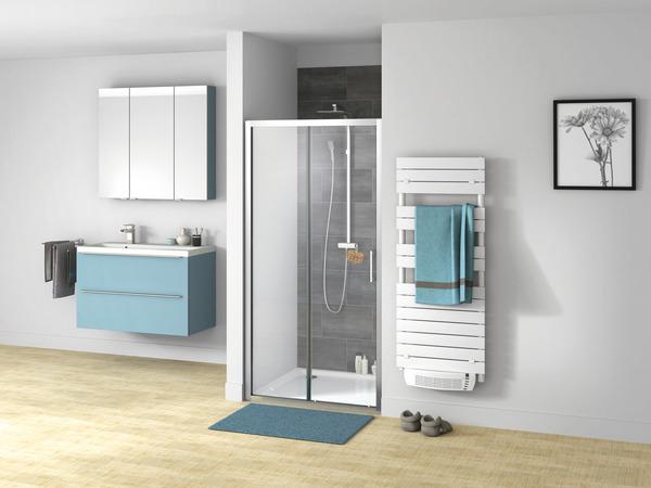 porte de douche coulissante 2 volets en verre transparent 190 x 100 cm cooke and lewis