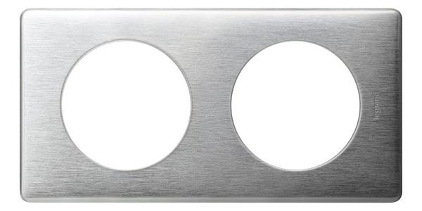 Plaque 2 Postes Celiane Coloris Aluminium Brico Depot