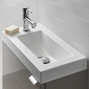 plan vasque pour lave mains faible profondeur beni l 44 2 x h 9 9 x p 23 2 cm goodhome