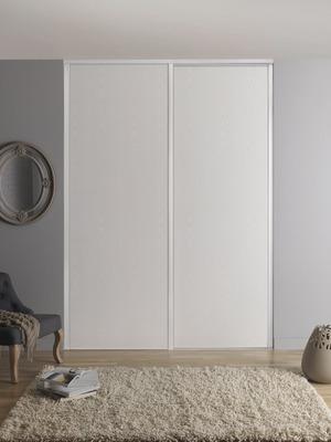 pack de 2 portes de placard coulissantes blizz h 250 x l 120 cm blanches form