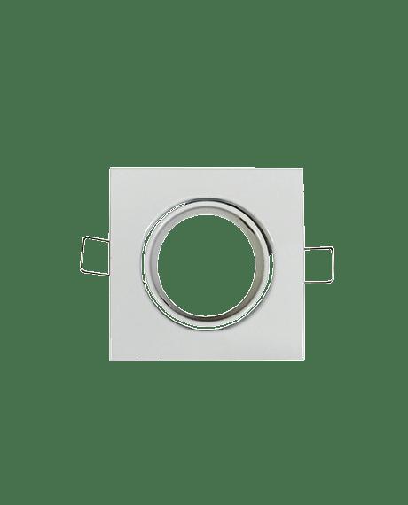support spot led carre couleur blanc culot gu10