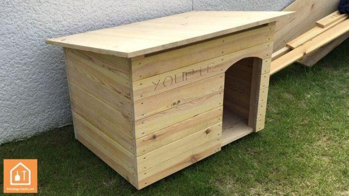 fabriquer une niche pour chien en bois