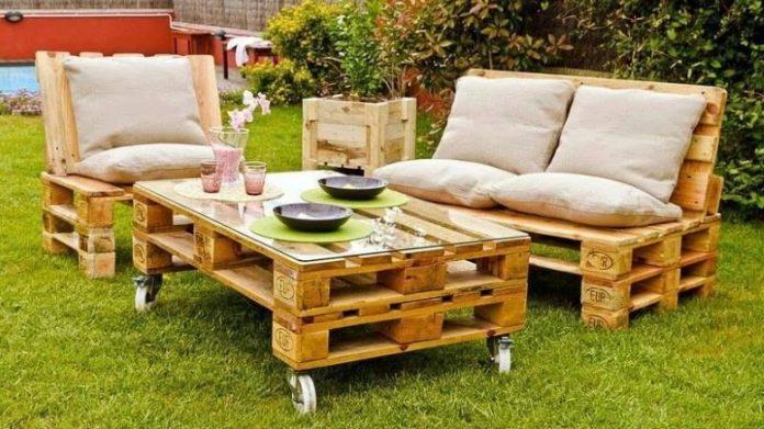 salons de jardin en bois de palettes