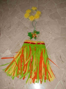 BRICOLAGE gonna Hawaiana carnevale  bricolage  ricette