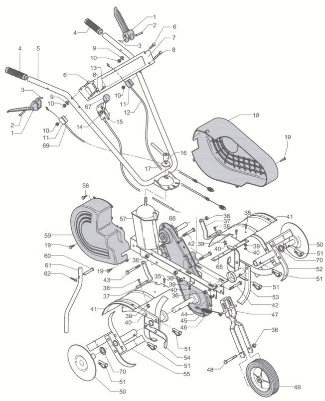 » Mep Electrolux POLO 50-R Motoazada Gasolina Honda 5 HP