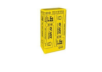 lot de 8 panneaux laine de verre kraft th32 r 3 15 l 135 x l 60 cm ep 100 mm isover