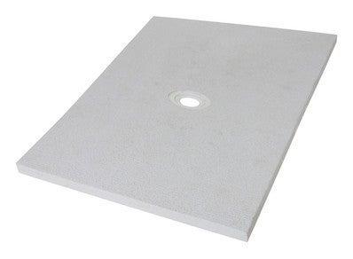receveur de douche a carreler ecoulement decentre l 90 x h 140 x ep 5 cm slot