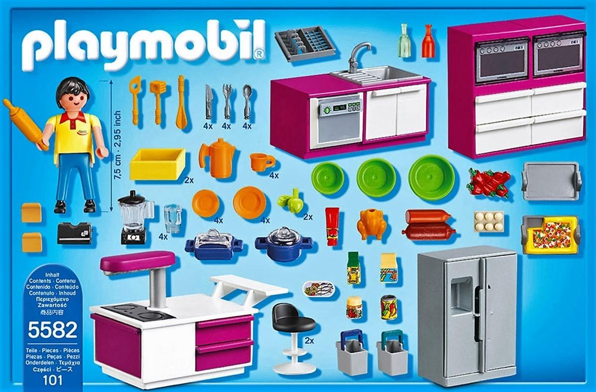 Playmobil 5582 cocina de diseo con menaje y ms  Brico