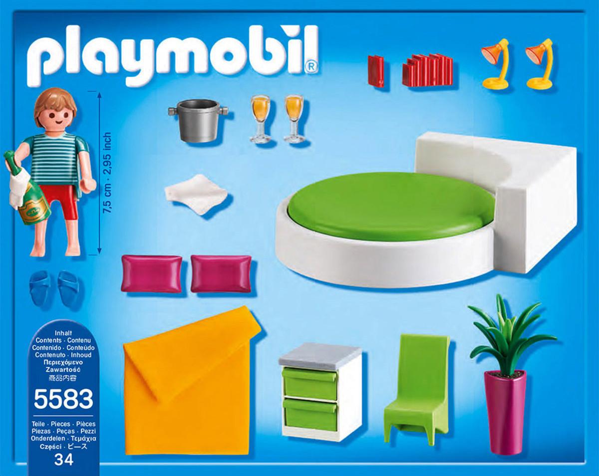 Playmobil 5583 dormitorio con cama redonda y ms  Brico Reyes