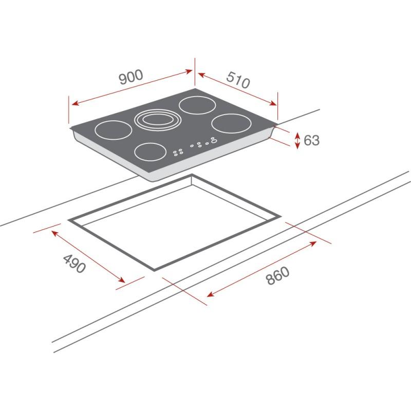VITROCERAMICA TEKA MODELO TR 951