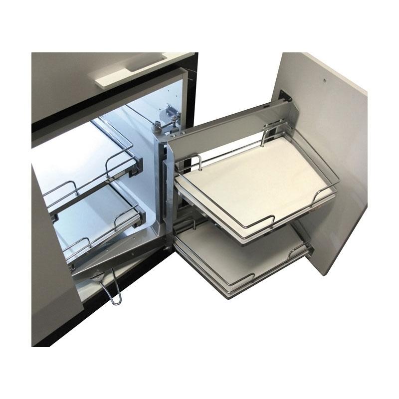 rangement d angle coulissant 4 corbeilles smart corner extractible