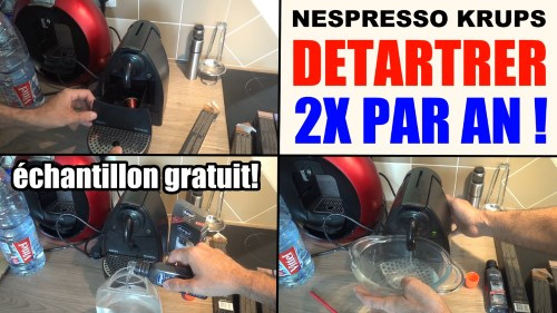 nespresso krups eau qui ne couple plus ou lentement : le detartrage