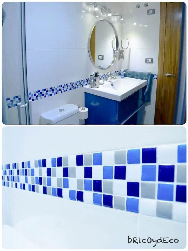 renovación baño con pintura para azulejos
